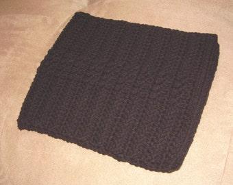 Crochet iPad / tablet case/sleeve - black