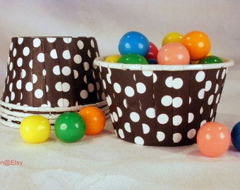 30 Black Polka Dot Cupcake Muffin Candy Nut Cups -  Birthday Parties Showers Weddings 30 ct