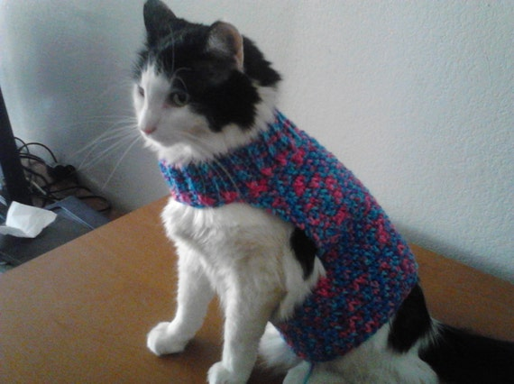 Sweater For Cat Crochet Pattern English Sweater Vest