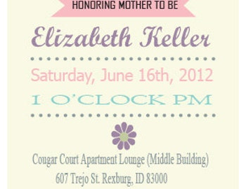 Classical Pink Baby Shower Invitation