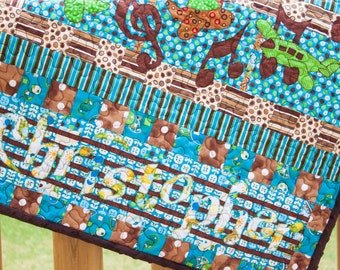 Musical Planes Baby Quilt