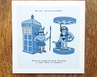 Would You Rather Greeting Card - Teleport / Time travel