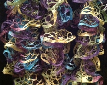 Ruffle Scarf - Wild Hydrangeas