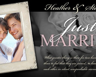 Black and White Just Married Banner