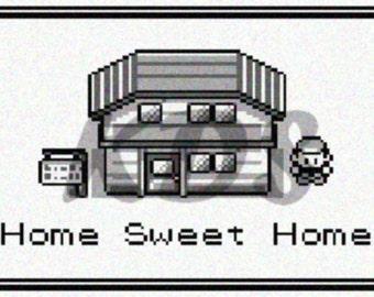 Home Sweet Home Pokemon Sign Cross Stitch Pattern