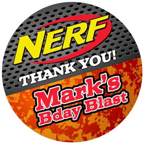 personalized stickers nerf games birthday boy nerf wars