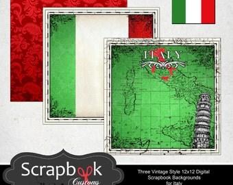 Italy Digital Scrapbooking. Instant Download.