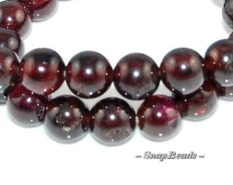 4mm Sangria Red Garnet Gemstone Round 4mm - 5mm Loose Beads 15.5 inch Full Strand (90166312-7)