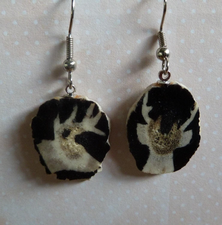 Silhouette Earrings: Antler Earrings With Deer Silhouette
