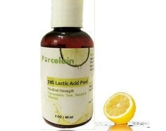 2 oz ) Buffered Lactic Acid Skin Chemical Peel for Skin Lightening Wrinkle Acne 70%