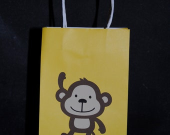 Monkey Gift Bags....Favor Bags Happy  Birthday