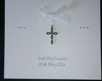 Invitations for Baptism lovely handmade personalised personalized Baptism Invitations fully printed