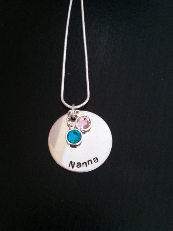 Personalized Necklace with Swarovski Birthstone Channel Drops