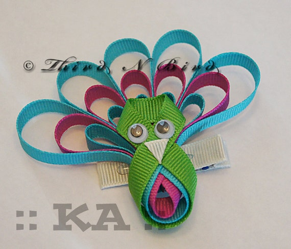 ribbon hair clips instructions