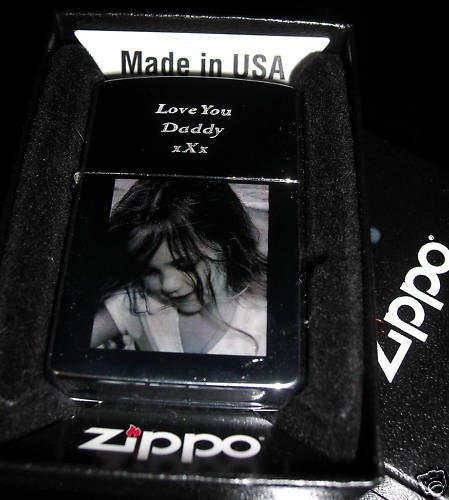 Zippo Lighter Personalised Photograph By ThePersonalisedGift