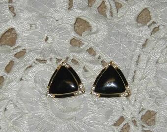 Vintage clipon earrings.