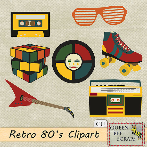 Items similar to Sale 50%-Retro 80's clipart - Personal ...