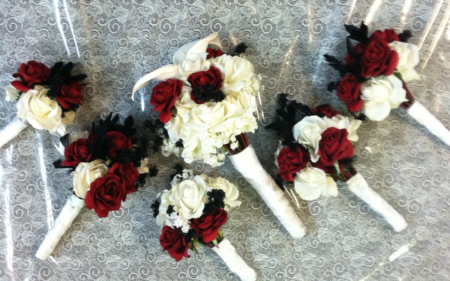 silk wedding bouquets packages silk floral bouquet wedding package 7421