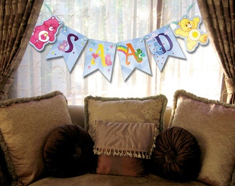 Care Bears party banner (PRINTABLE)