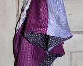 OOAK - Reversible Twirly Skirt - Girls' Size M (7-8) - 100% Designer Cotton fabric