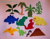 Felt Dinosaur Play Set Without Storyboard