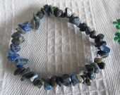 "7 1/2"" Bracelet: Lapis Lazuli - protection - self expression - migraines-- S/H/Ins included"
