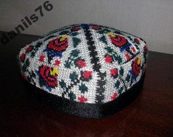 UZBEK SKULL-CAP Hand Embroidered Four Sides