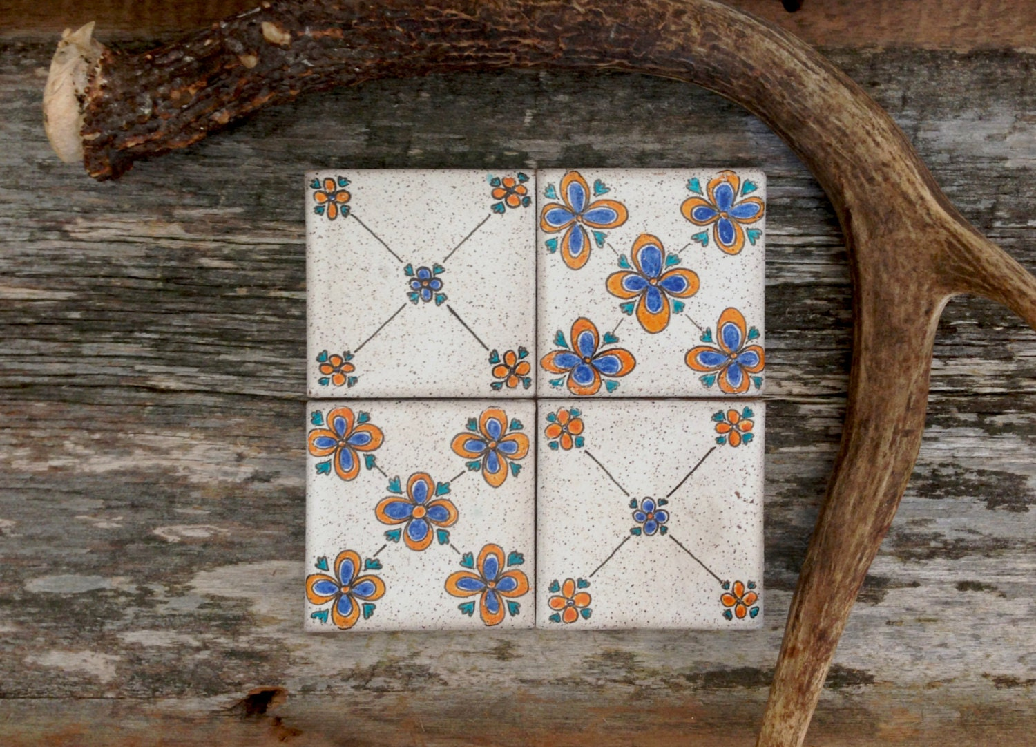 Hand painted ceramic tile coasters by chelseaautumnny on etsy - Hand painted ceramic tile ...