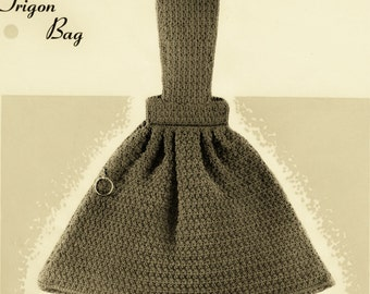 Another Fab Vintage Bag Trigon Design Crochet Pattern PDF