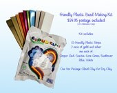 Friendly Plastic Bead Making kit with Cloud Clay Air Dry Clay