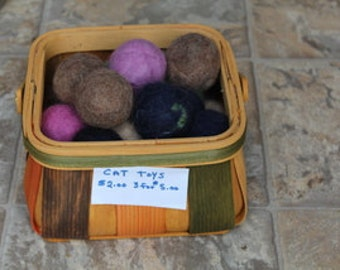 Felted cat toy