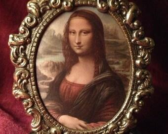 Vintage Italian Silk Mona Lisa