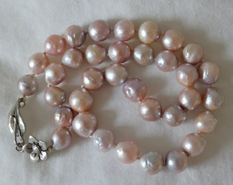 "Palest Pink ""Kasumi"" Baroque Pearl Strand"