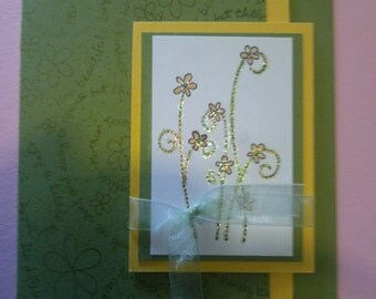 Stampin up Thank you card (Ready to ship)