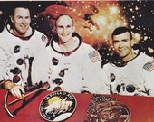 Vintage Apollo XIII Crew Photo Collectible