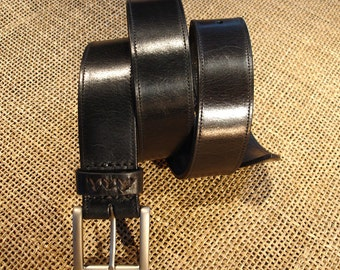 LEATHER HANDMADE BELT / Leather Belt / Handmade Belt / Belt Accessories / Belt Men / Belt Women / Black Leather Belt.