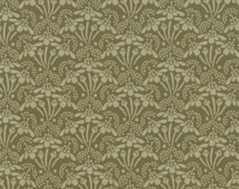 Clothworks Lily & Peony 860-24 Green Sold by the  yard