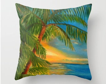 """Sunset """"Reflections"""" Key West - Home Decor Pillow Cover"""