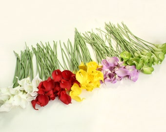 Cally Lily Real Nature Touch Flowers for DIY Bridal Bouquet Wedding Bouquet with Scent high quality