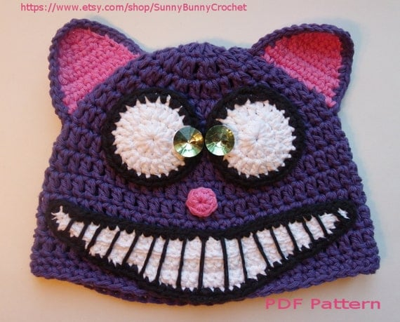 ANIMAL HAT PATTERN, Cat Crochet Hat, Halloween hat, Tuque, Beanie ...