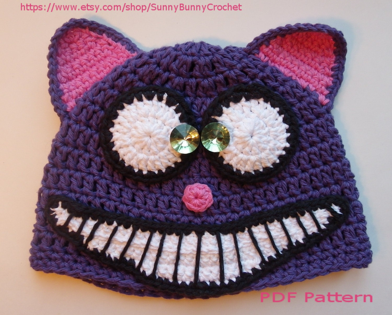 Crochet Halloween Baby Hat Pattern : ANIMAL HAT PATTERN Cat Crochet Hat Halloween hat Tuque