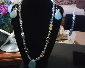 necklace set with earring and bracelet