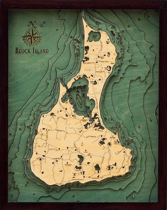 Block Island Rhode Island 16 X 20 Laser Cut