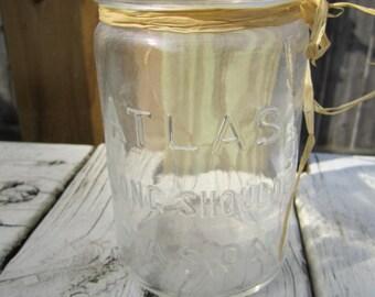 Farmhouse Atlas Strong Shoulder Mason Jar