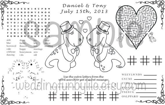 Wedding Activity Page PDF Kids