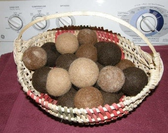 PacaSense® Alpaca Dryer Balls for Your Clothes Dryer.  Great Stocking Stuffer!  All Natural, 100 Percent Alpaca Fiber.