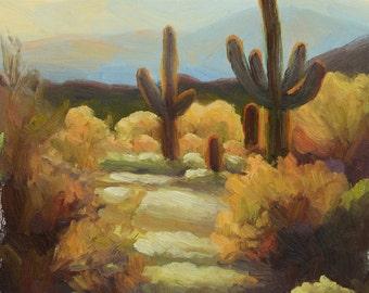 "Original Oil Painting-Desert Warmth-10""x8"""