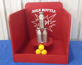 Milk Bottle Baseball Toss Carnival Game for Birthday, Church, VBS or School Party