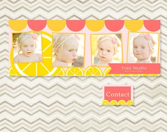 INSTANT DOWNLOAD - Facebook Timeline Cover for Personal or Business Page - Lemonade - C062