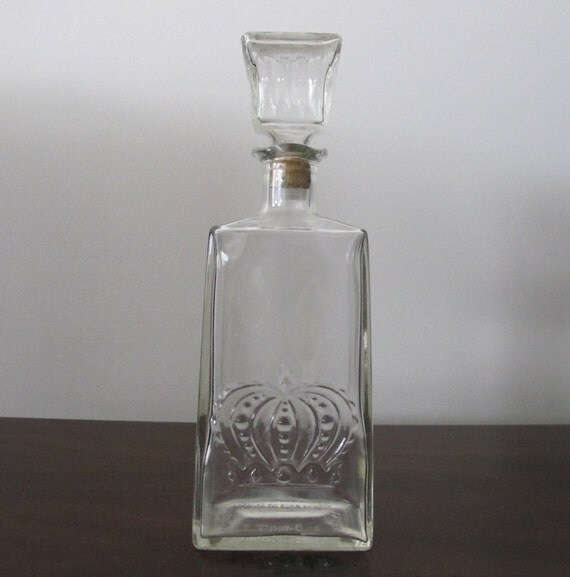 Vintage Crown Royal Whiskey Decanter